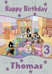 Personalised Baby Looney Tunes Birthday Card Design 2